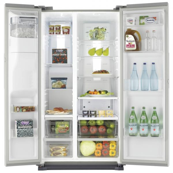 Samsung RS7677FHCSL American-Style Fridge Freezer With Water and Ice Dispenser - Silver