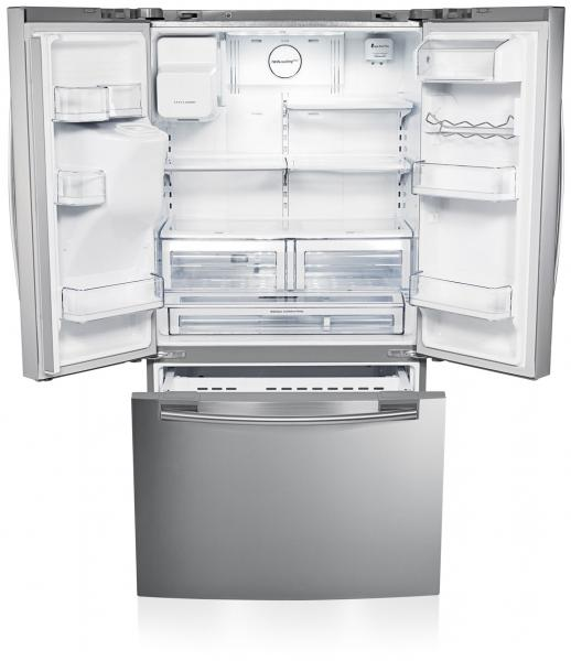 Fridge Freezer With Ice And Water Part - 44: Samsung RFG23UERS 3 Door American-Style Fridge Freezer With Water And Ice  Dispenser - Stainless Steel