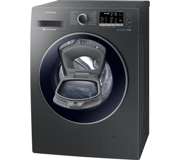samsung adwash 9 kg ww90k6414qx washing machine graphite. Black Bedroom Furniture Sets. Home Design Ideas