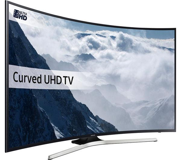49 Samsung UE49KU6100 Curved Ultra HD HDR 4K Freeview HD Smart LED TV