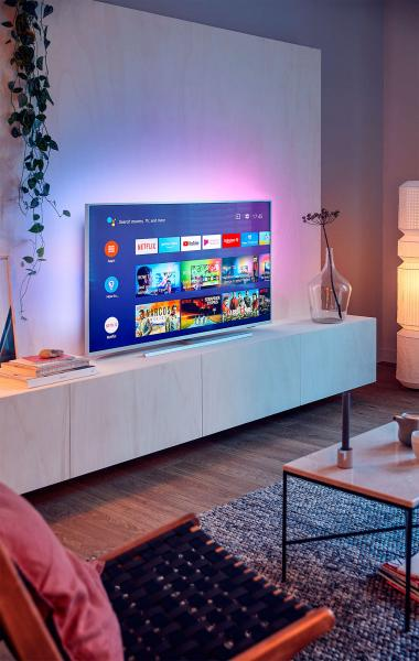 "55"" Philips 55PUS7334 Ambilight 4K Ultra HD Android HDR Smart LED TV"