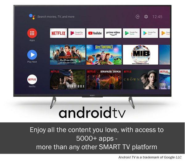"""43"""" Sony Bravia KD43XH9196BU 4K HDR Android Smart LED TV"""