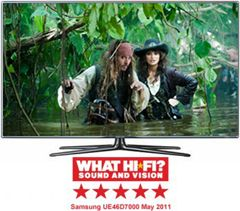46 Samsung UE46D7000 Full HD 1080p Digital Freeview LED 3D TV