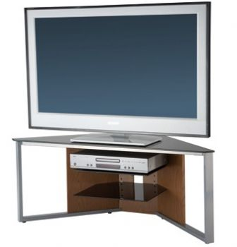 alphason corner tv stand with floating shelves. Black Bedroom Furniture Sets. Home Design Ideas