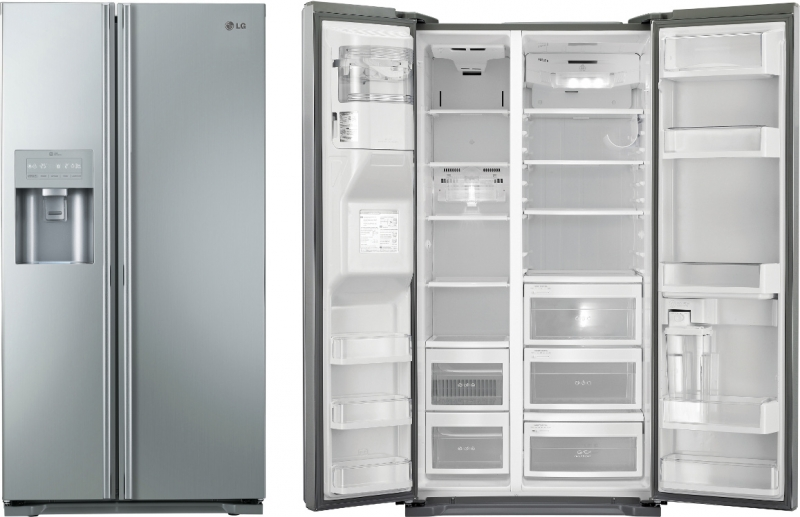 Charming American Fridge With Ice Dispenser Part - 7: Lg GS5163AVMV Fridge Freezer American Style Non-Plumbed Water And Ice  Dispenser