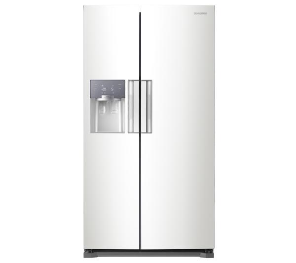 SAMSUNG RS7667FHCWW American-Style Fridge Freezer - White