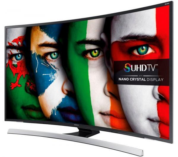 "48"" Samsung UE48JS8500 Curved 4k Ultra HD Freeview HD Freesat HD Smart 3D LED TV"