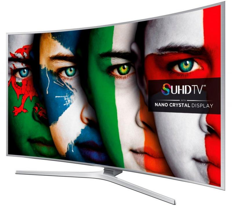 "48"" Samsung UE48JS9000 Curved 4K SUHD Freeview HD Freesat HD Smart 3D LED TV"