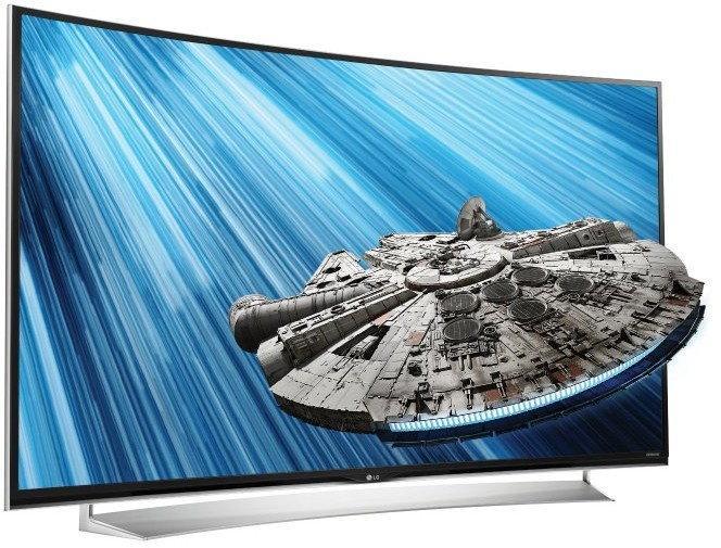 65 LG 65UG870V Curved 4k Ultra HD Freeview HD Smart 3D LED TV