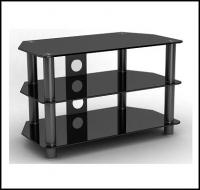 Glass TV Stand With Black Legs for TV up to 32 inches