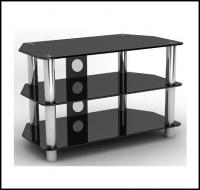 Glass TV Stand With Silver Legs for TV up to 32 inches