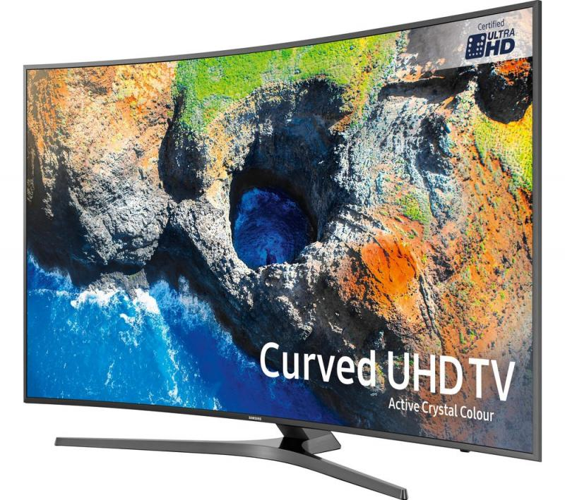 "65"" Samsung UE65MU6670 Curved Ultra HD HDR 4K Freeview HD Smart LED TV"