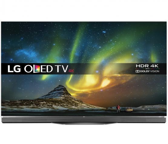 """55"""" LG OLED55E6V 4K OLED Ultra HD HDR Freeview HD Smart 3D TV"""