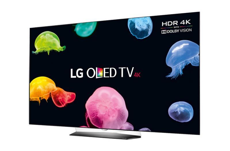 55 lg oled55b6v 4k oled ultra hd hdr freeview hd smart tv. Black Bedroom Furniture Sets. Home Design Ideas
