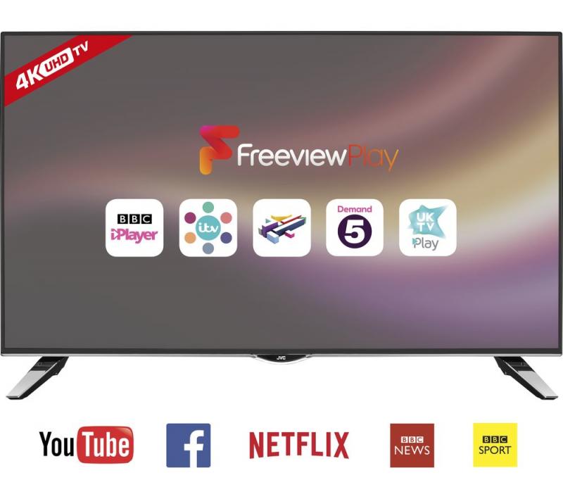 43 JVC LT-43C862 4K Ultra HD Freeview HD Smart LED TV
