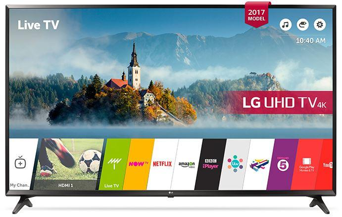 55 LG 55UJ630V 4K Ultra HD Freeview Freesat HD HDR Smart LED TV