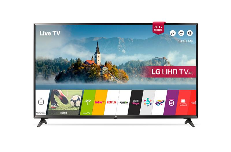 """60"""" LG 60UJ630 4K Ultra HD Freeview Freesat HD HDR Smart LED TV"""