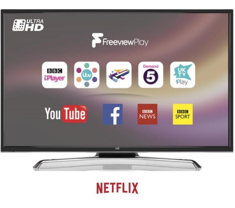 """40"""" JVC LT-40C880 4K Ultra HD HDR Freeview HD Smart LED TV"""