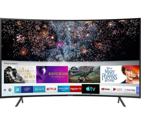 "55"" Samsung UE55RU7300KXXU 4K Ultra HD Curved HDR Smart LED TV"
