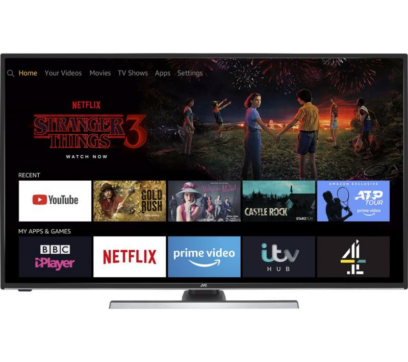 "49"" JVC LT-49CF890 4K Ultra HD HDR Freeview HD Smart LED Fire TV Edition"