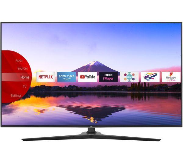 "65"" JVC LT-65C898 4K Ultra HD HDR Freeview Play Smart LED TV"