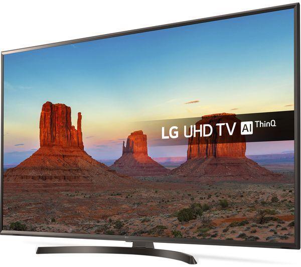 "43"" LG 43UK6470PLC 4K Ultra HD HDR Freeview Play Smart LED TV"