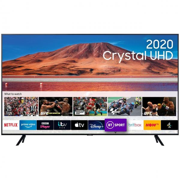 "75"" Samsung UE75TU7020KXXU 4K HDR Crystal Smart LED TV"