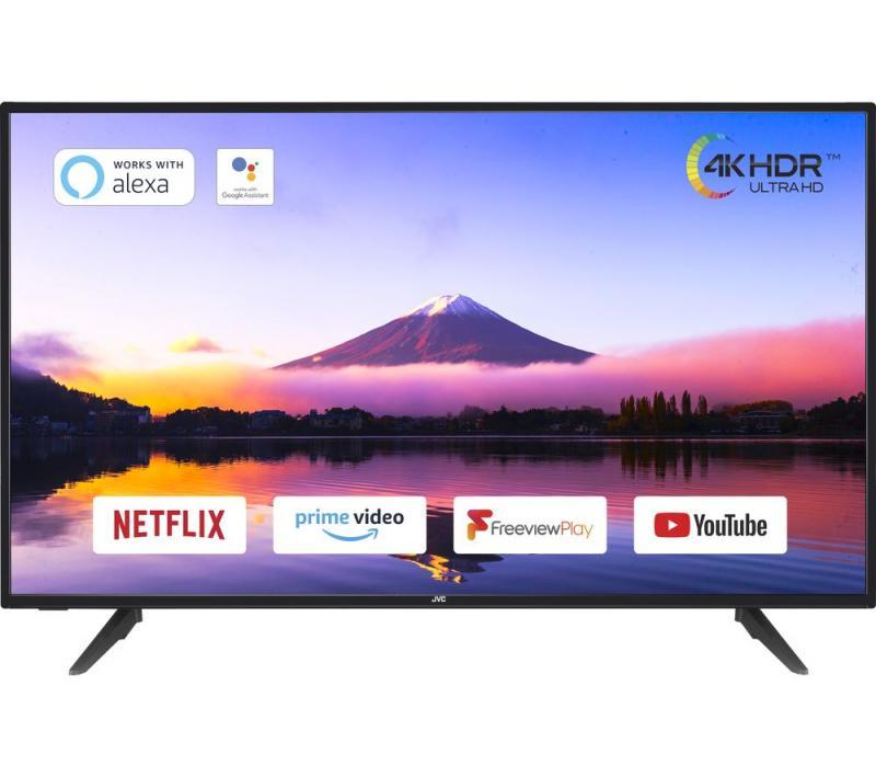 "40"" JVC LT-40C800 4K Ultra HD HDR Freeview Play Smart LED TV"