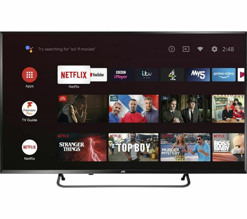"43"" JVC LT-43CA890 4K Ultra HD HDR Freeview Play Smart LED TV"