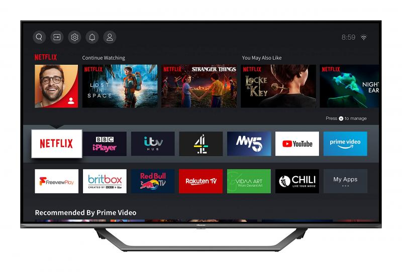 """55"""" Hisense 55AE7400FTUK 4K HDR Smart LED TV"""